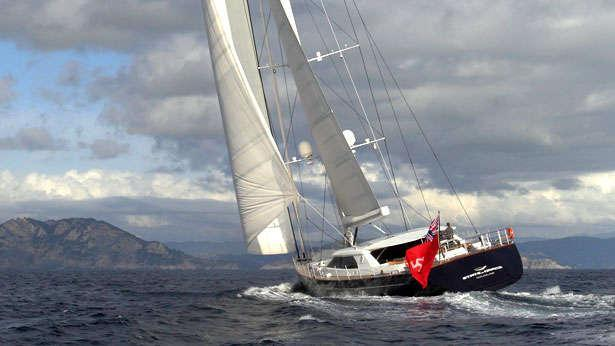 Sailing Yacht State of Grace underway