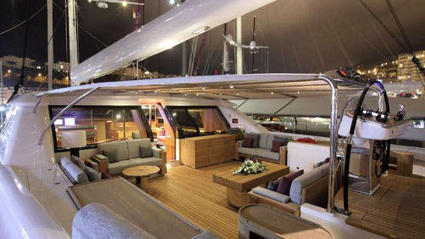 Sailing Yacht State of Grace's large cockpit