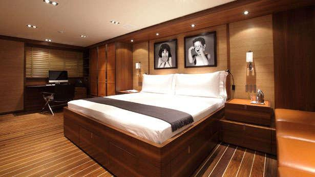 Sailing Yacht State of Grace's master stateroom