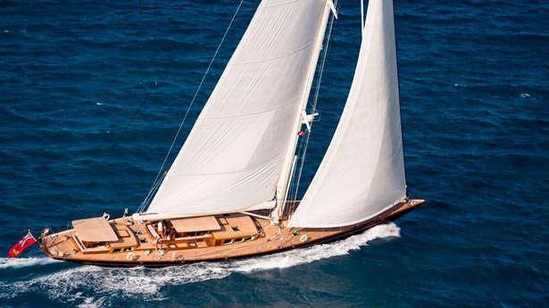 Sailing Yacht Pumula aerial view