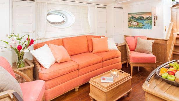 Sailing Yacht Pumula's seating area