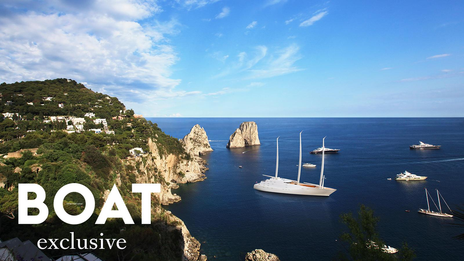 An exclusive rendering of Sailing Yacht A