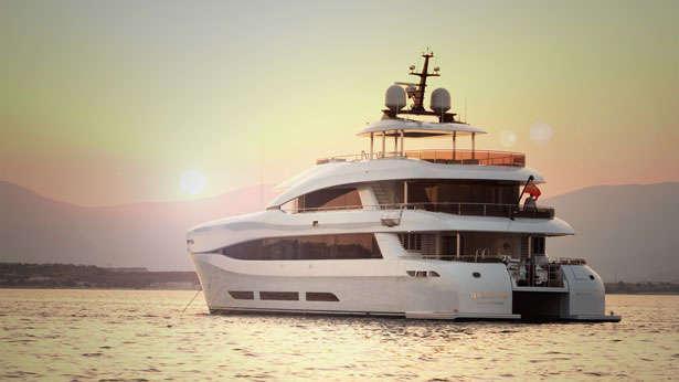 quaranta catamaran yacht logos marine 2013 34m half stern