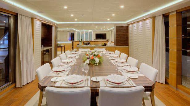 quaranta catamaran yacht logos marine 2013 34m dining area