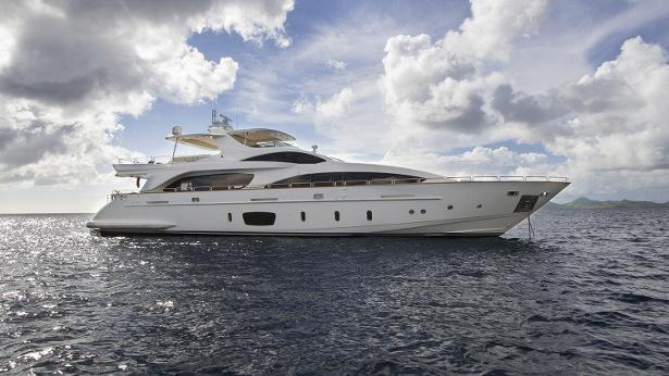 superyacht antonia II with white hull