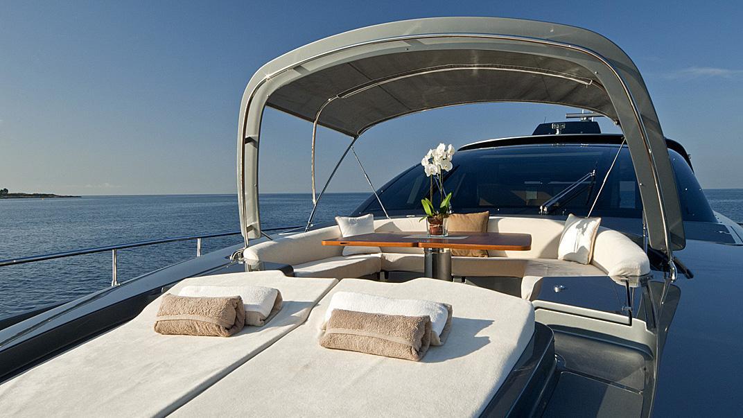 Rhino, yacht for charter: sundeck