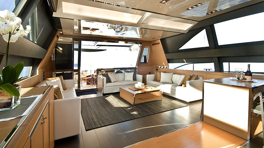 Rhino, yacht for charter: main saloon