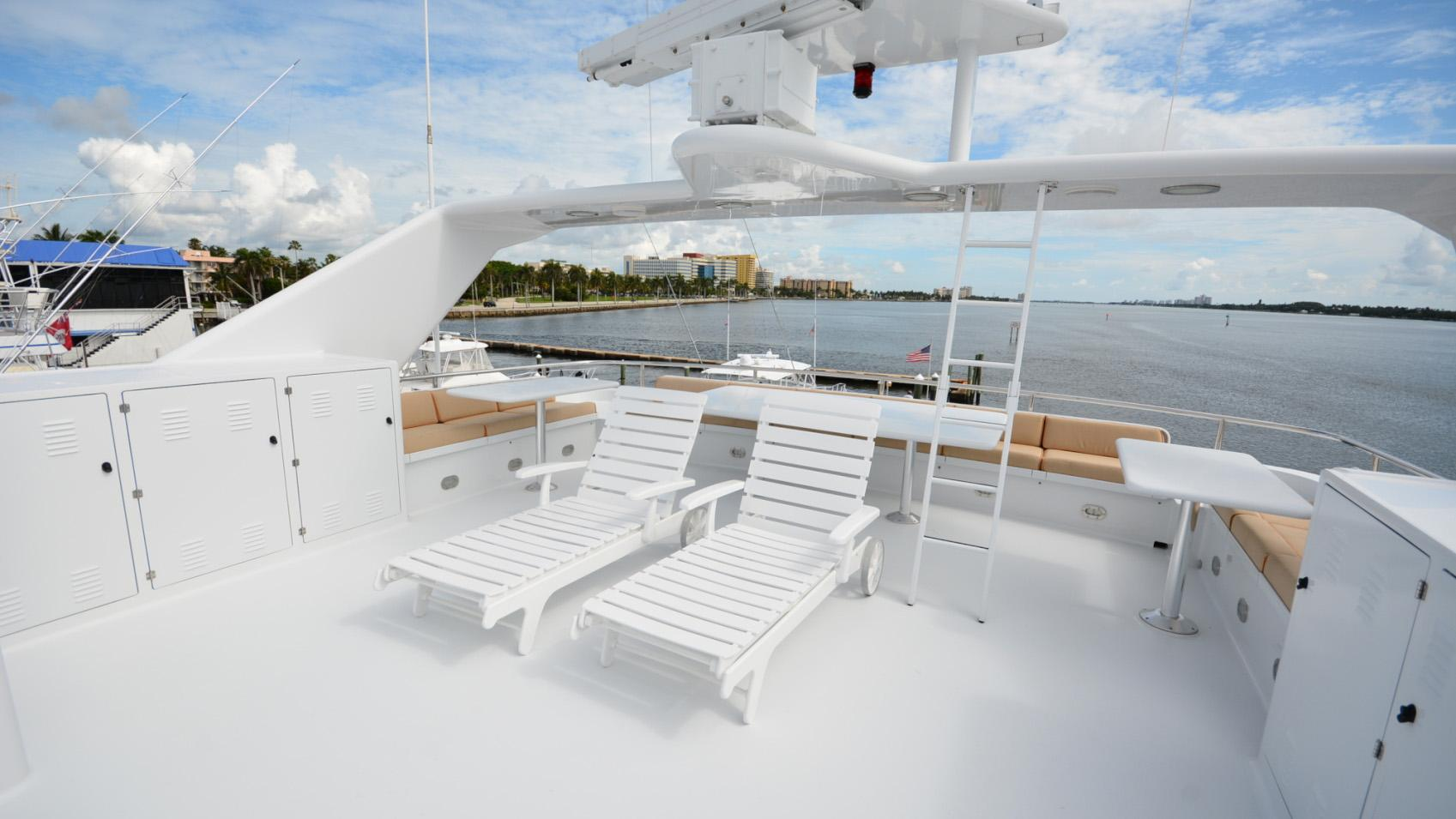 Ar De motor yacht for sale lounge upper deck