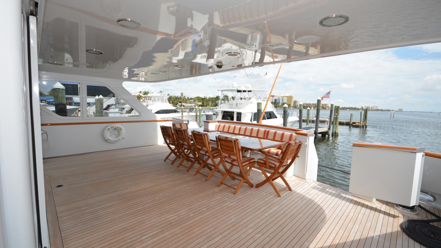 Ar De motor yacht for sale aft deck