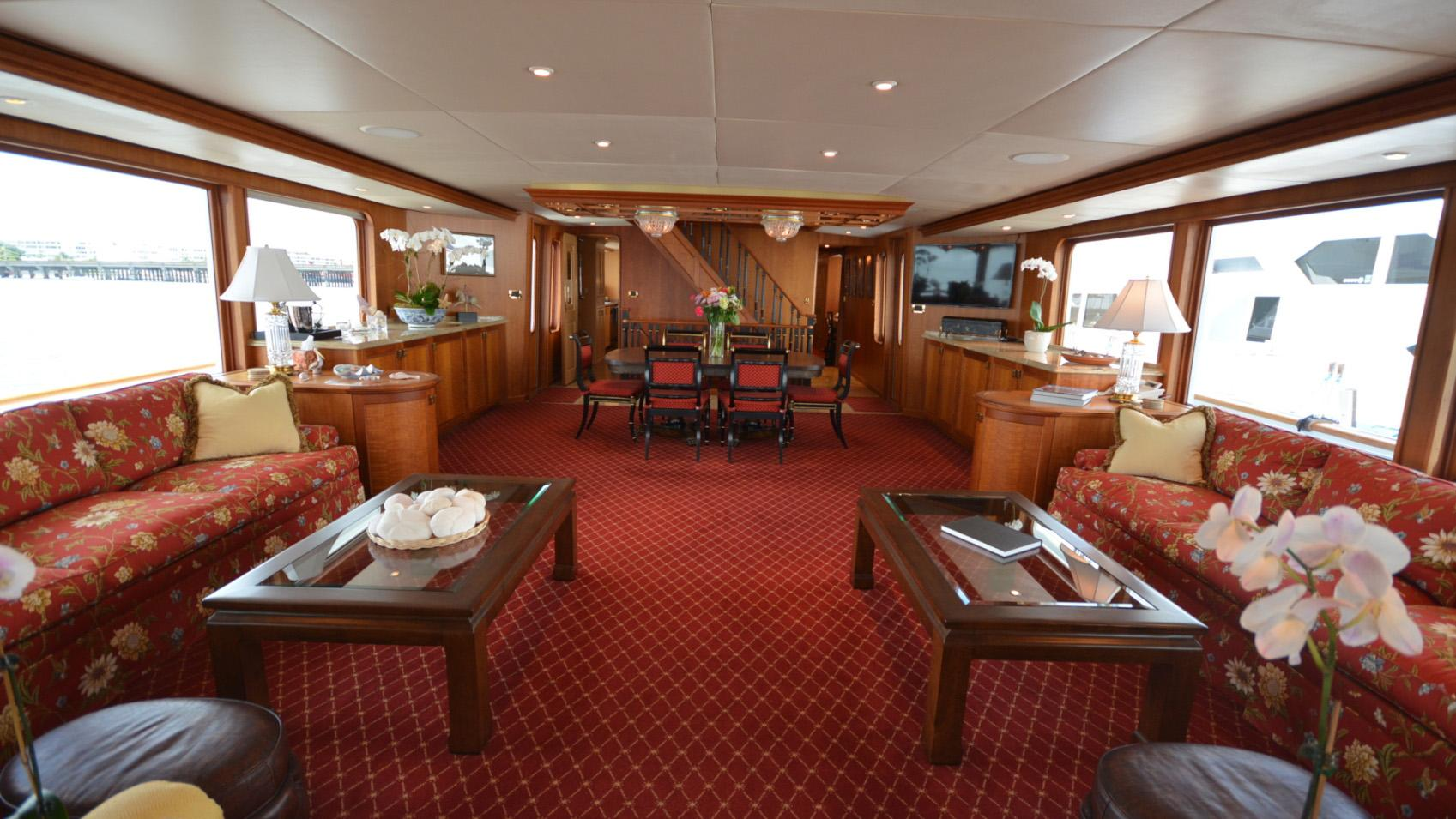 Ar De motor yacht for sale main saloon