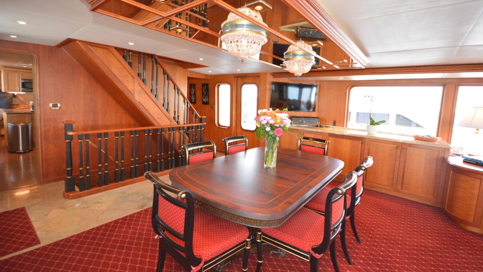Ar De motor yacht for sale dining