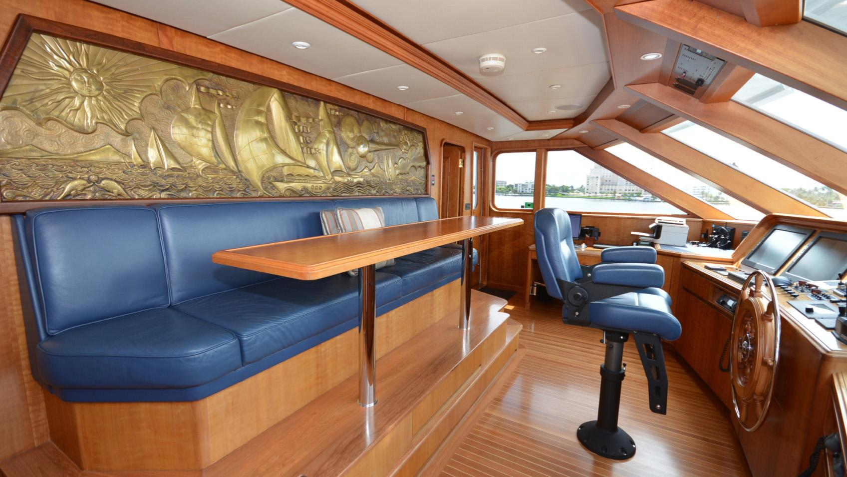 Ar De motor yacht for sale pilot house