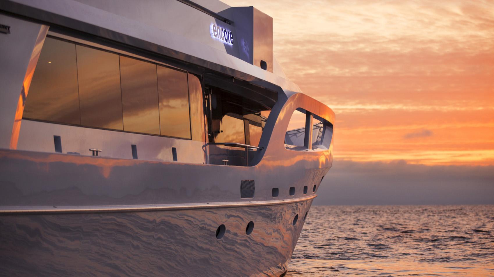 Encore motor yacht close up