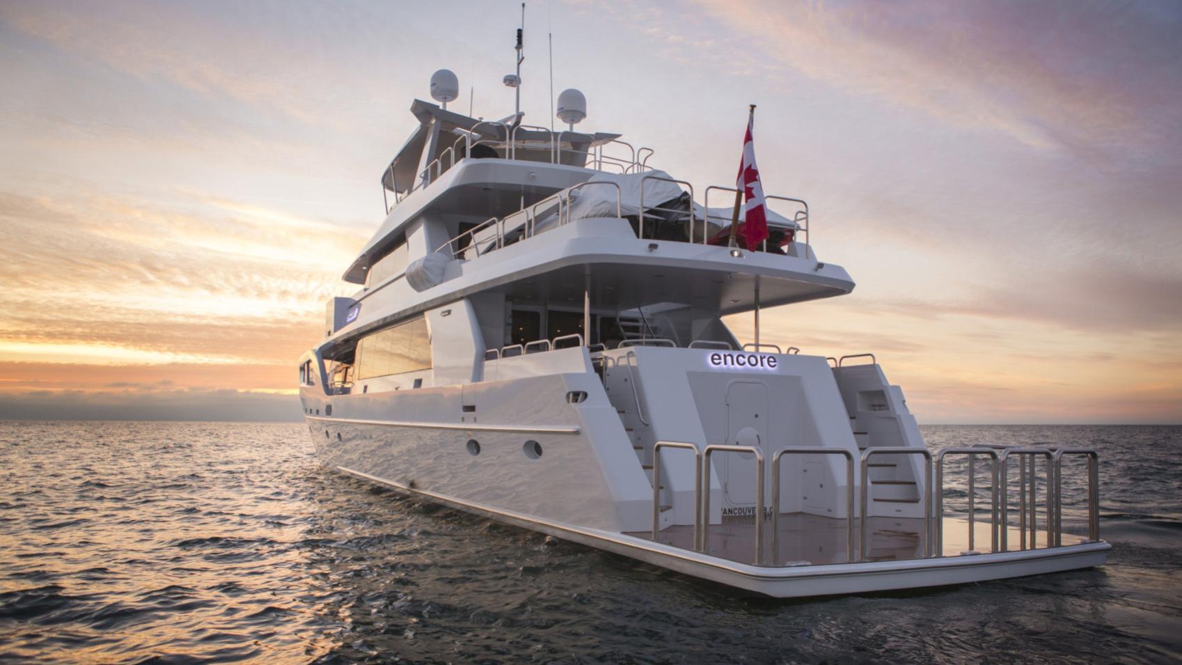 Encore motor yacht stern