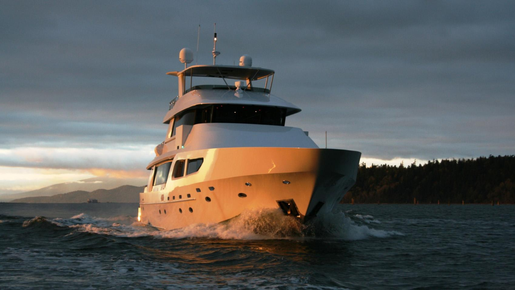 Encore motor yacht for sale bow