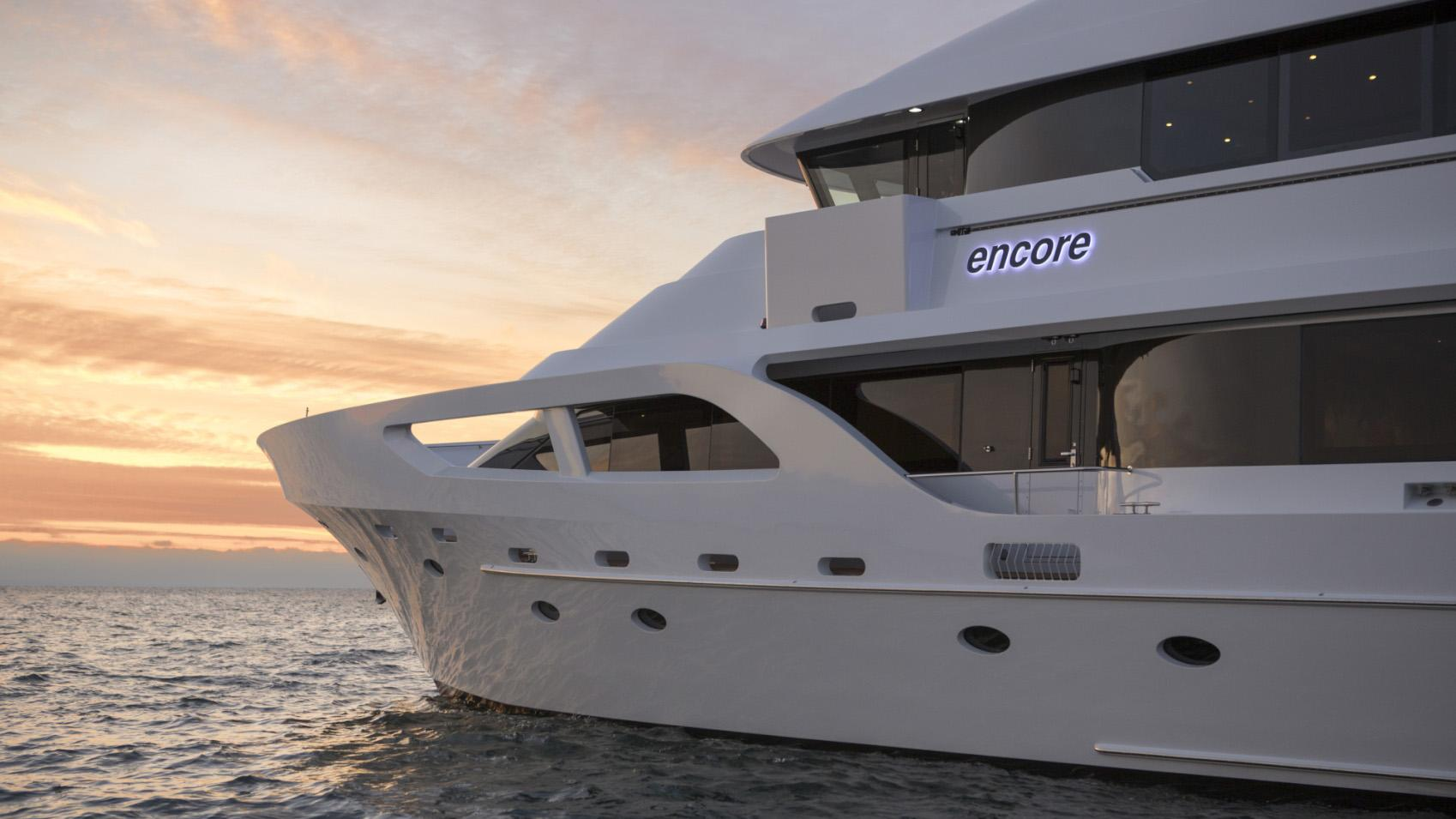 Encore motor yacht for sale fore deck