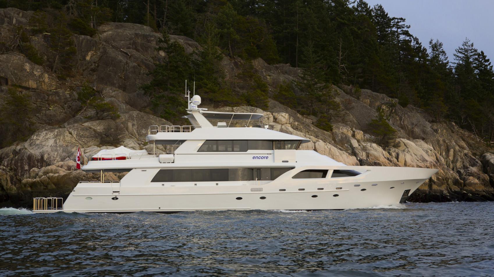 Encore motor yacht for sale full profile