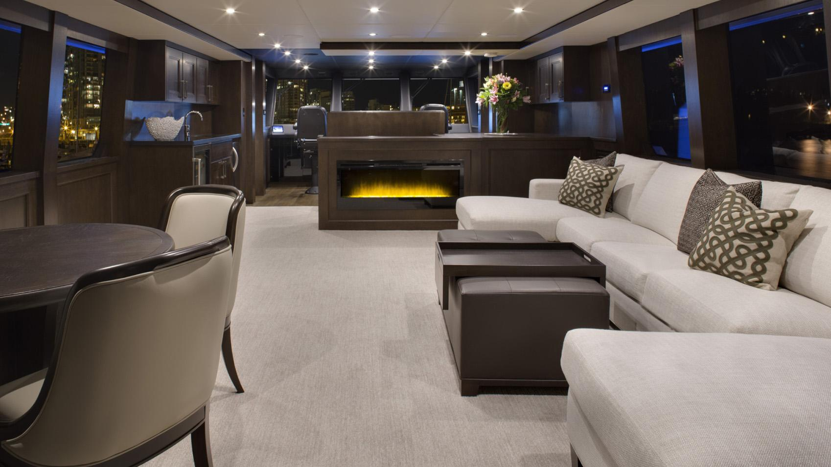 Encore motor yacht for sale main saloon