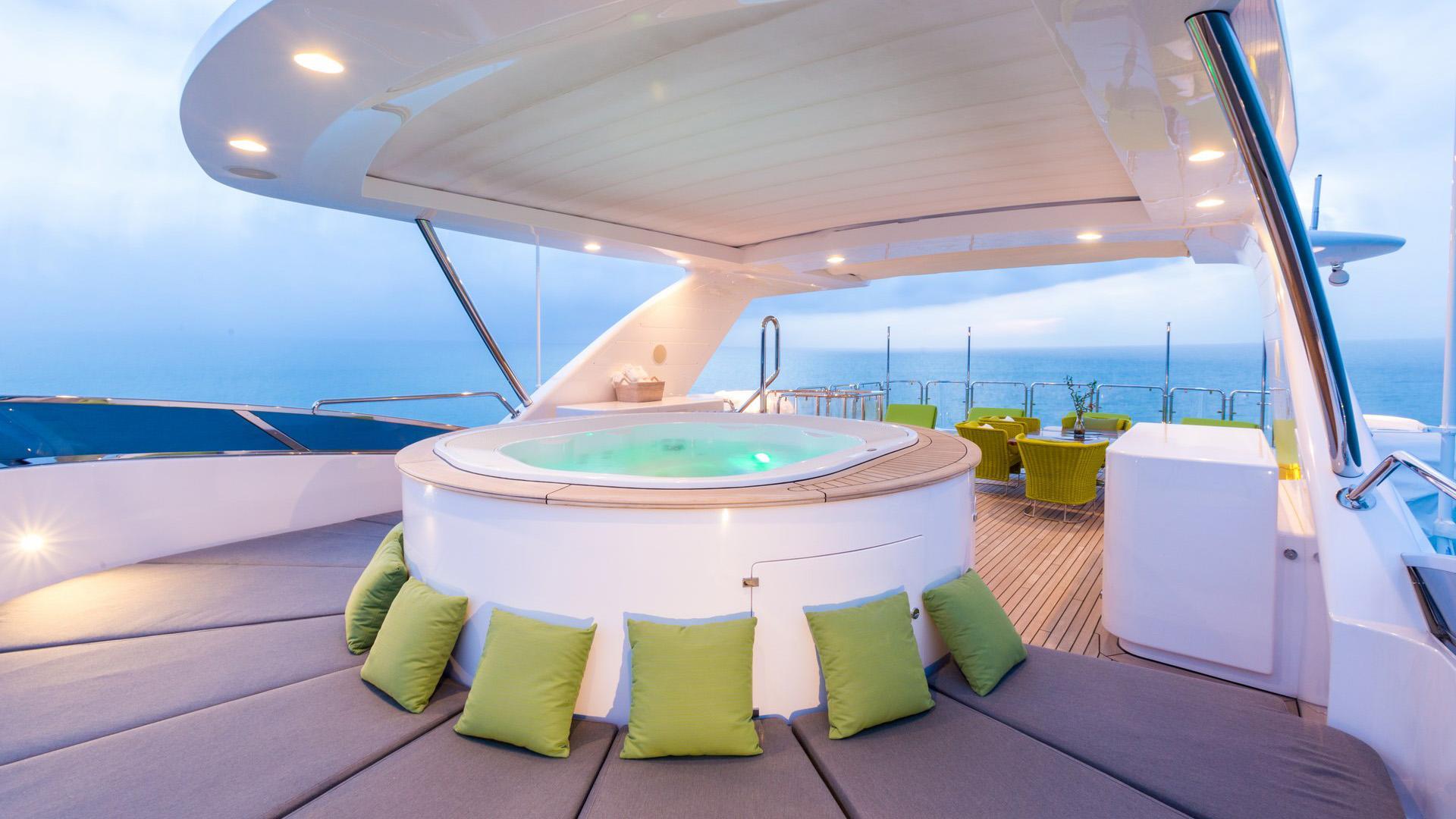 Edesia superyacht for sale sun lounge