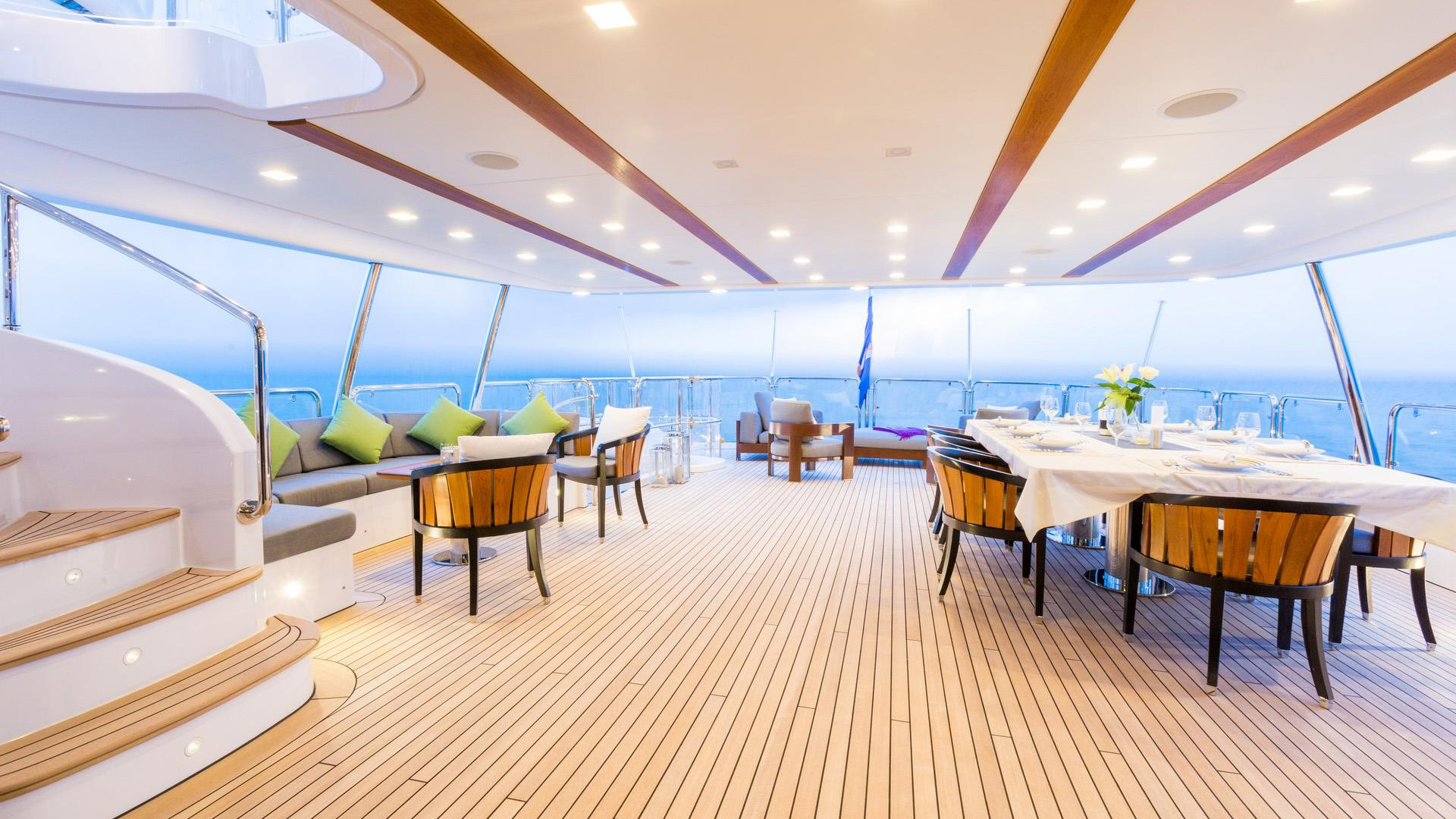 Edesia superyacht for sale aft deck