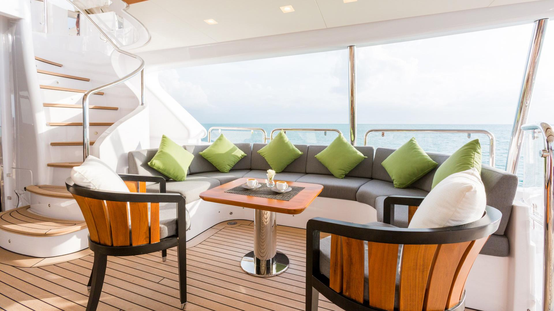 Edesia superyacht for sale deck nook