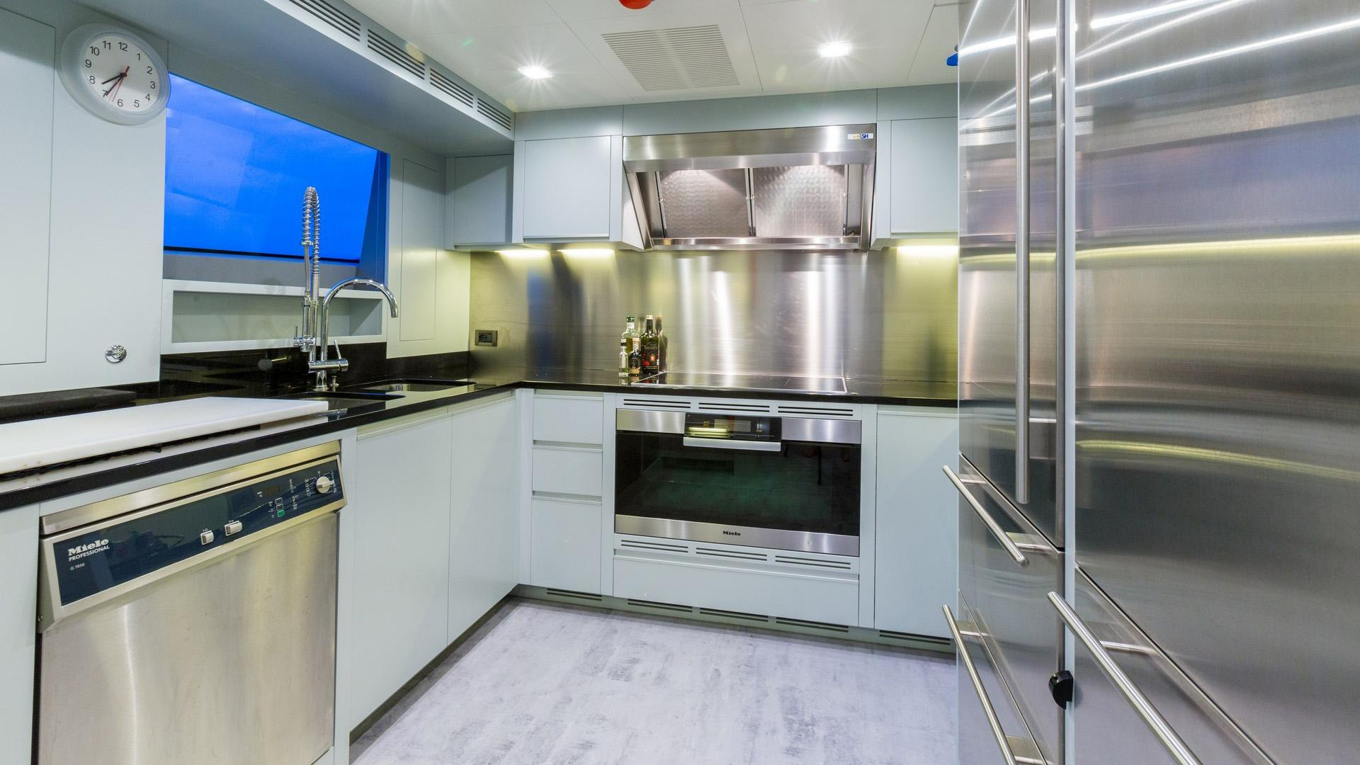 Edesia superyacht for sale galley