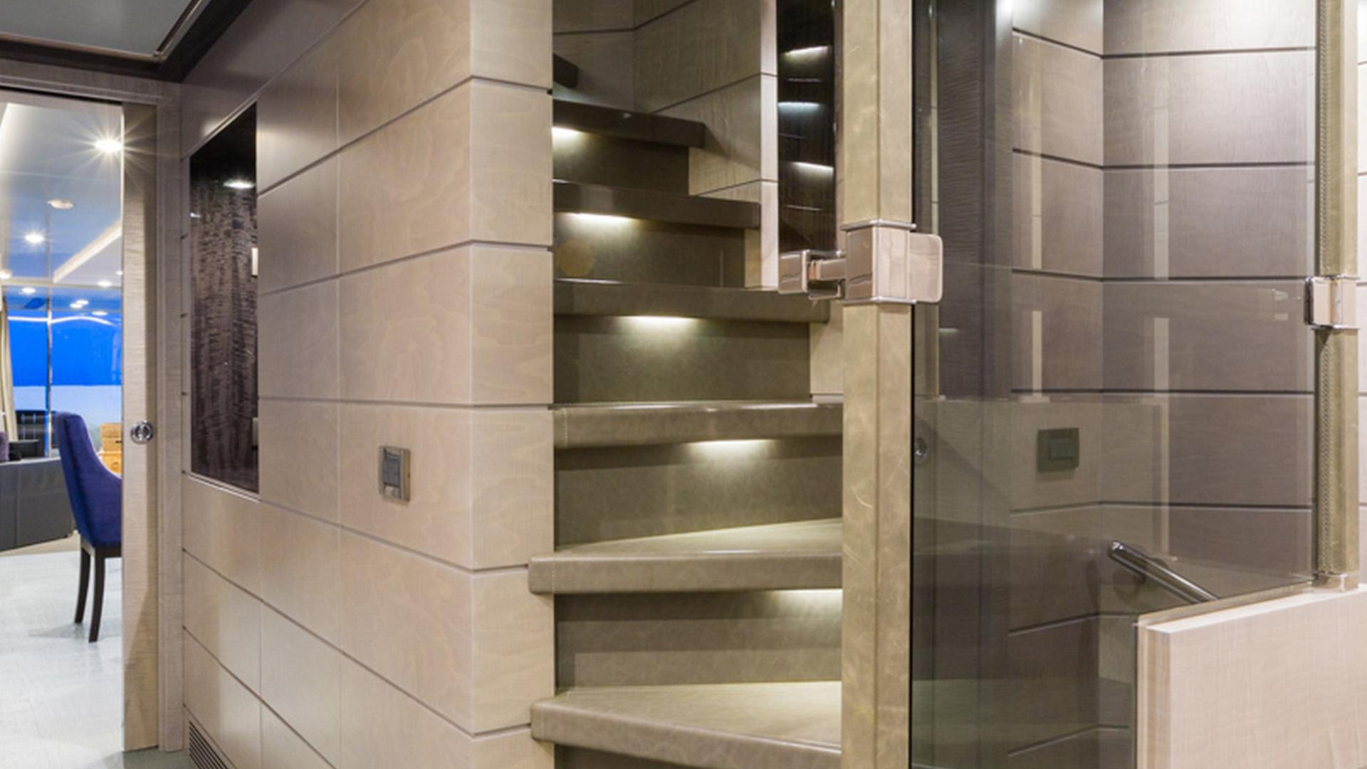 Edesia superyacht for sale stairs
