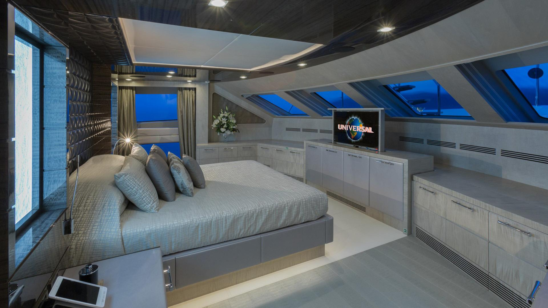 Edesia superyacht for sale master cabin