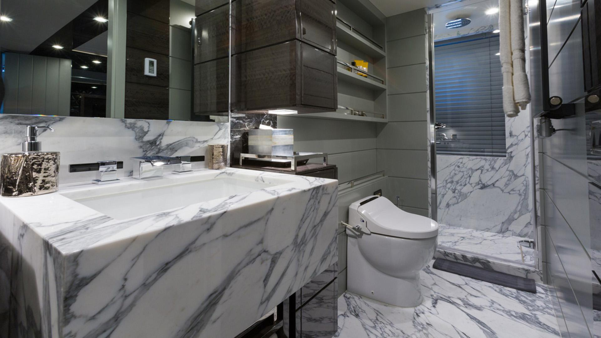 Edesia superyacht for sale bathroom