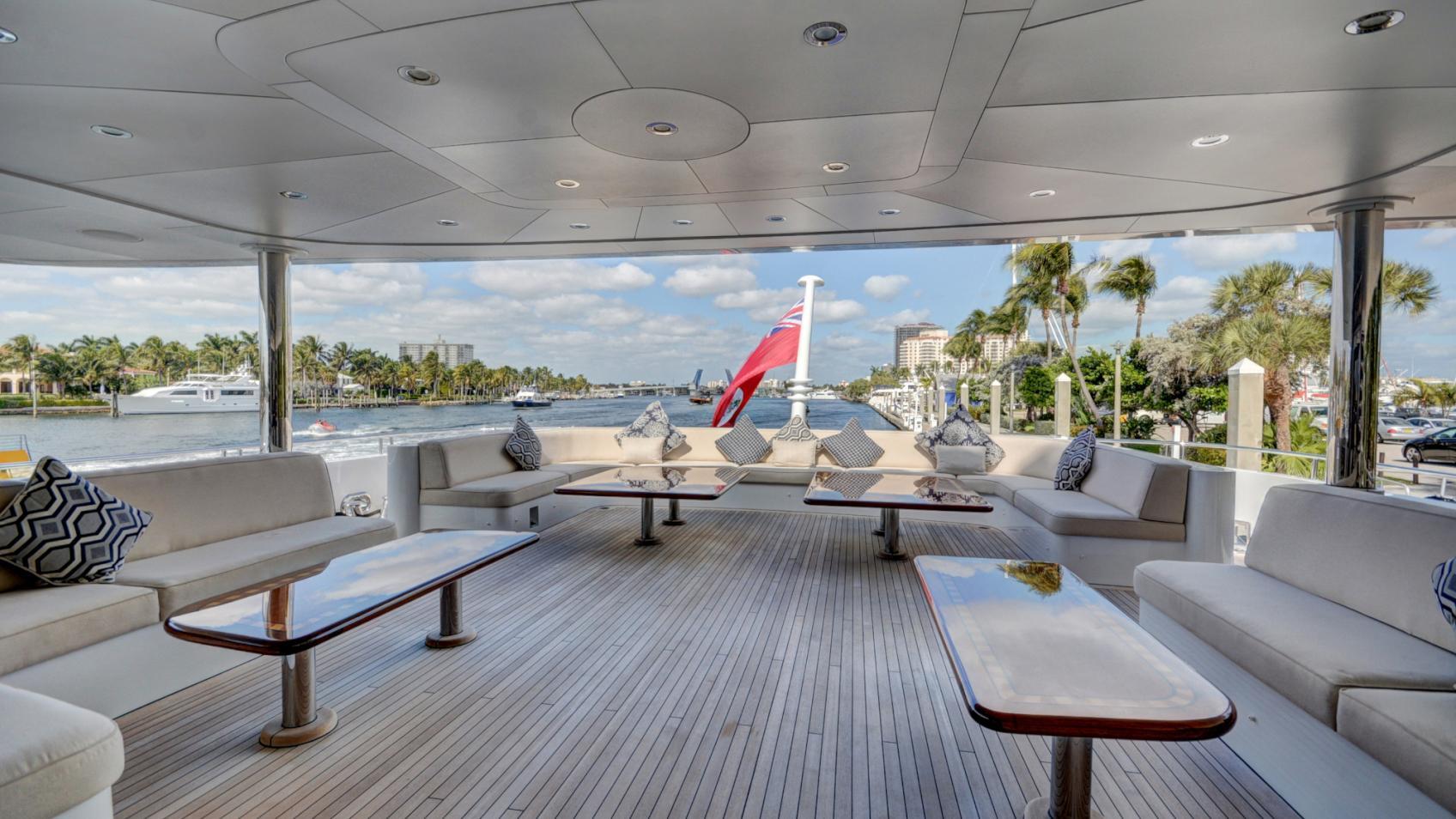soverign motor yacht for sale deck