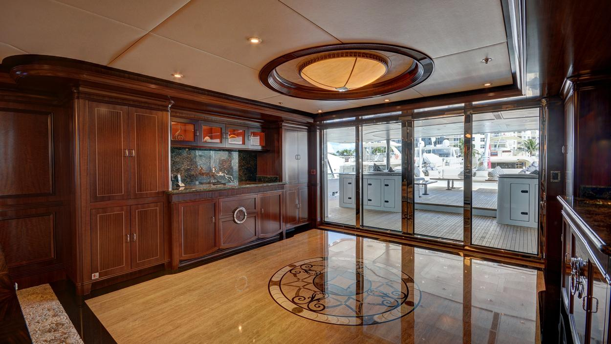 soverign motor yacht for sale saloon entrance