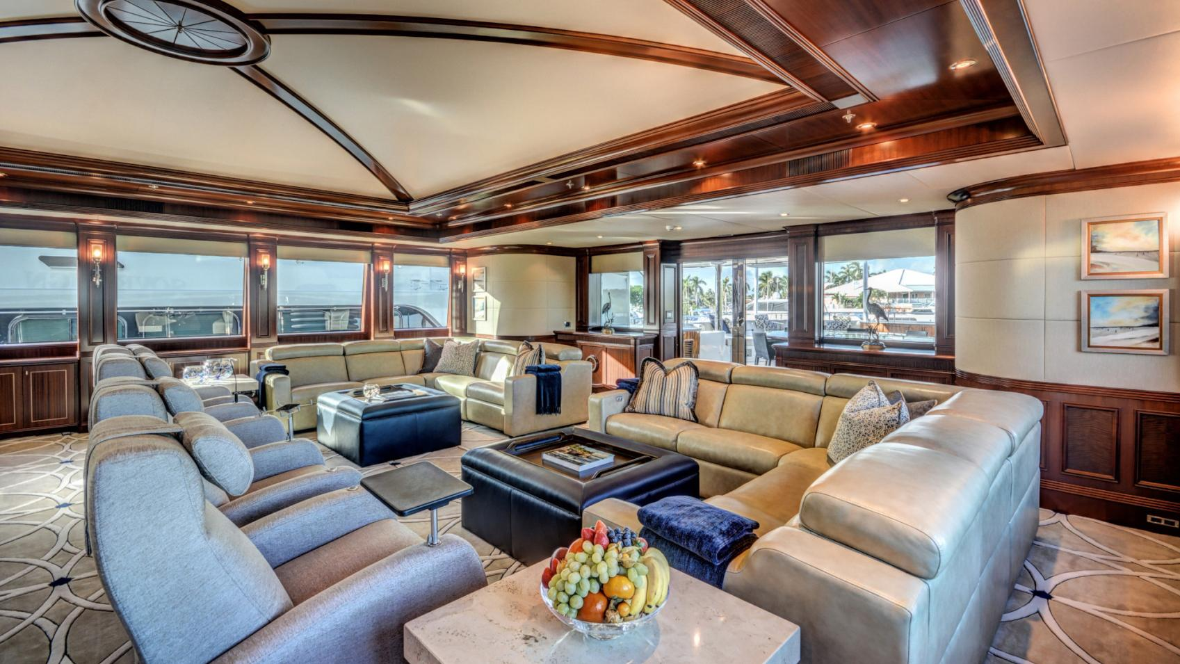 soverign motor yacht for sale main lounge