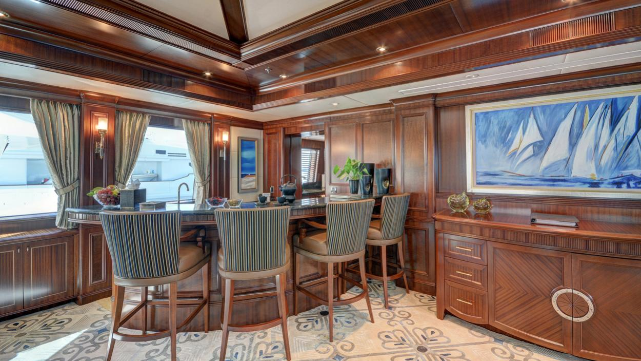 soverign motor yacht for sale bar