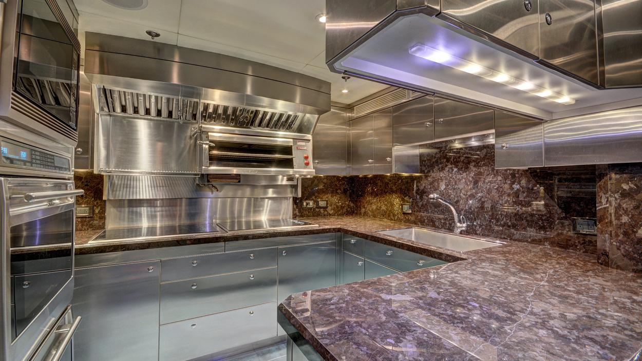 soverign motor yacht for sale galley