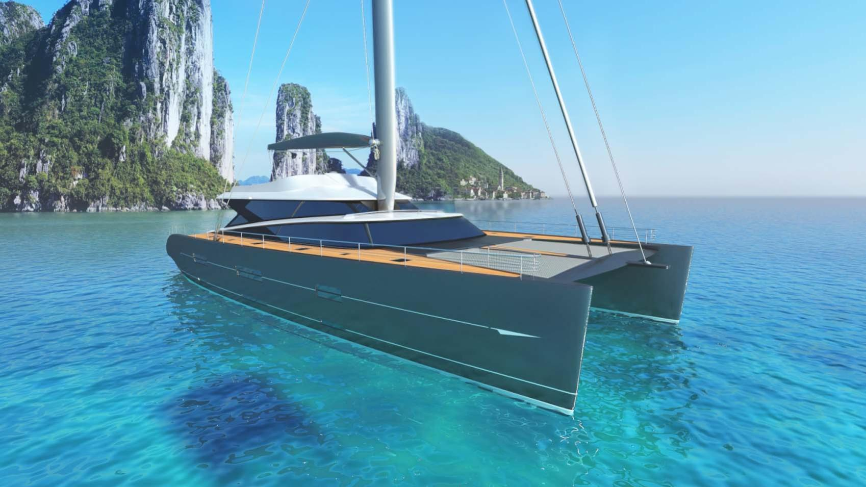 blue coast 88 cataraman yacht profile