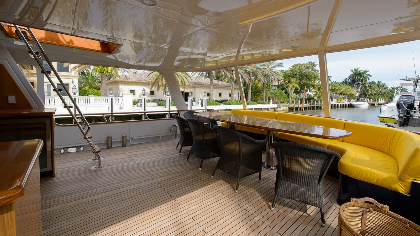 Halcyon Days motor yacht for sale aft
