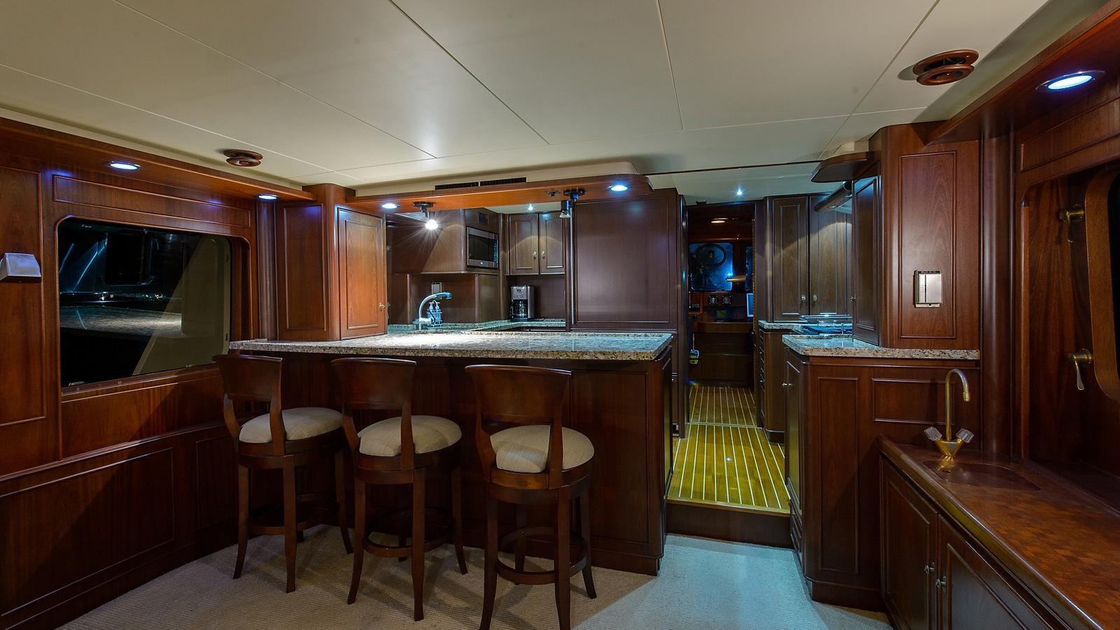 Halcyon Days motor yacht for sale bar
