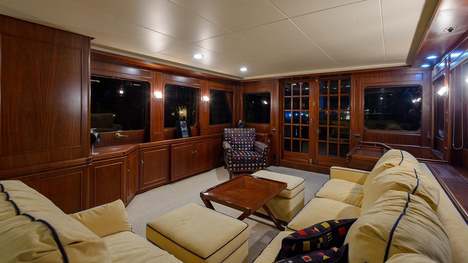 Halcyon Days motor yacht for sale lounge