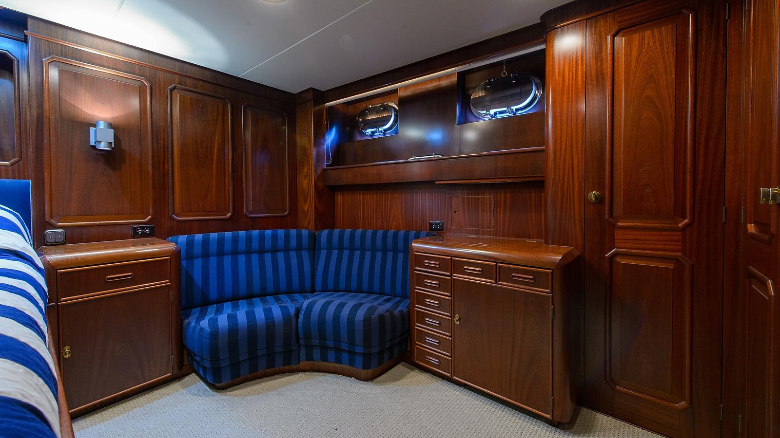 Halcyon Days motor yacht for sale cabin lounge