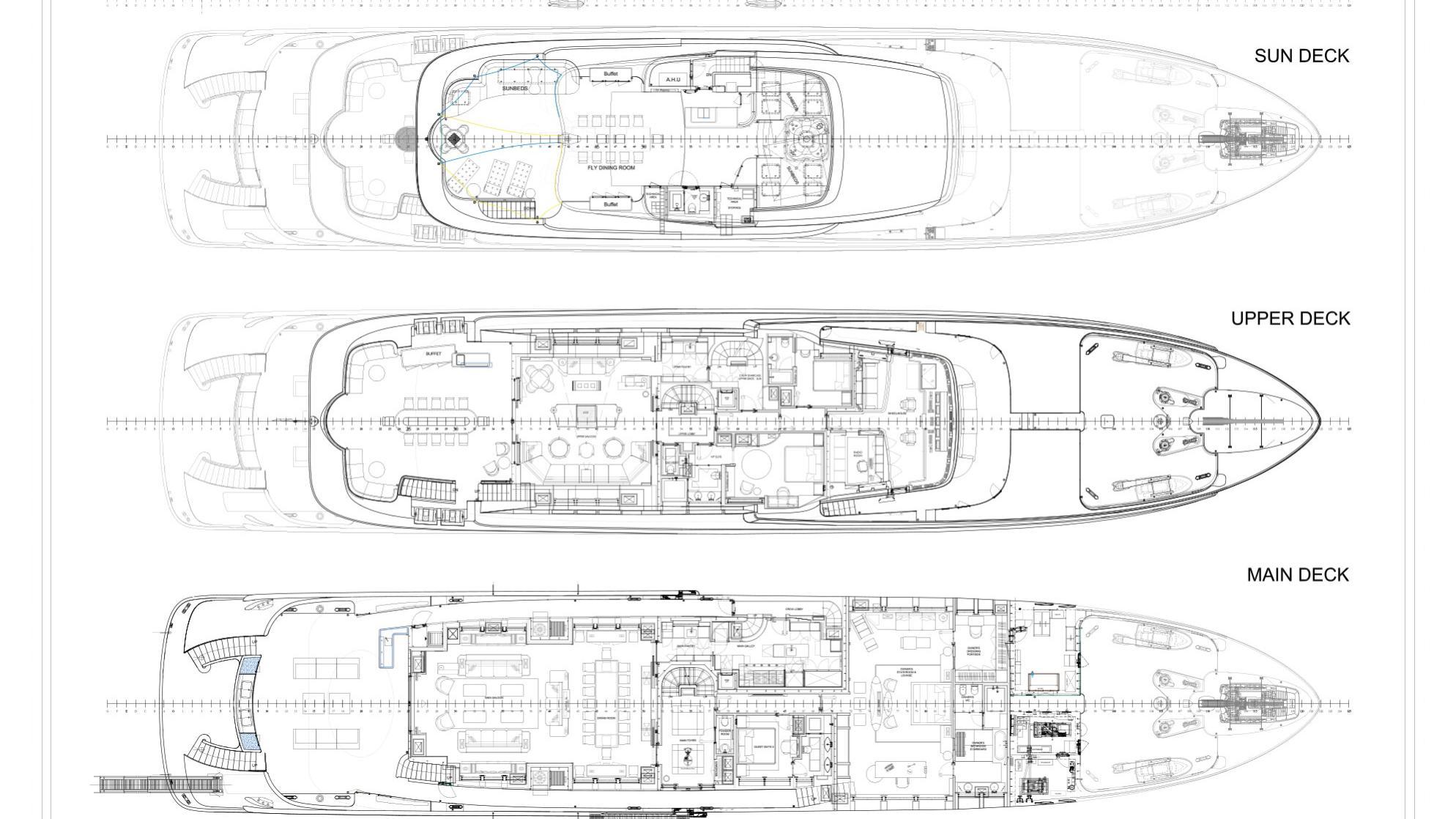 Mary-Jean II superyacht for charter deckplan