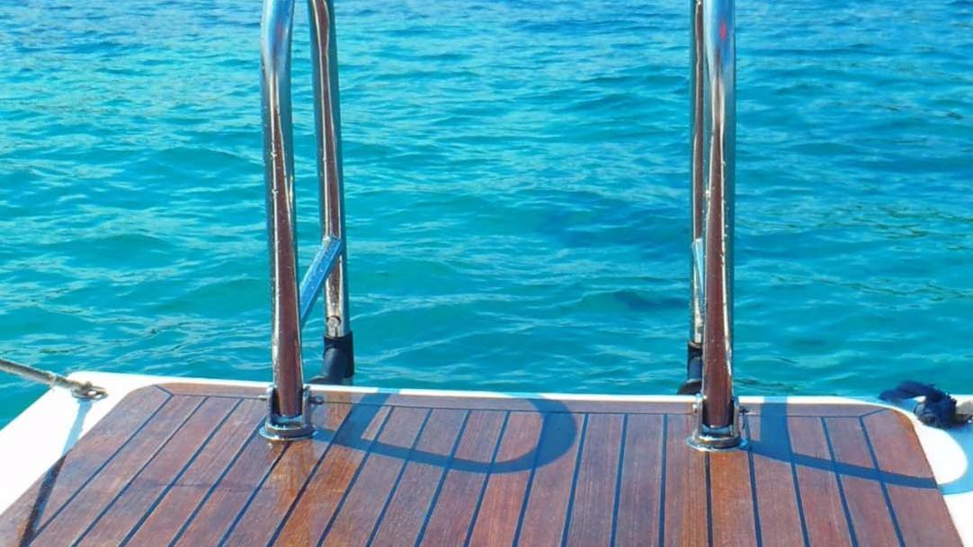 ASPIRATION sailing yacht transom deck