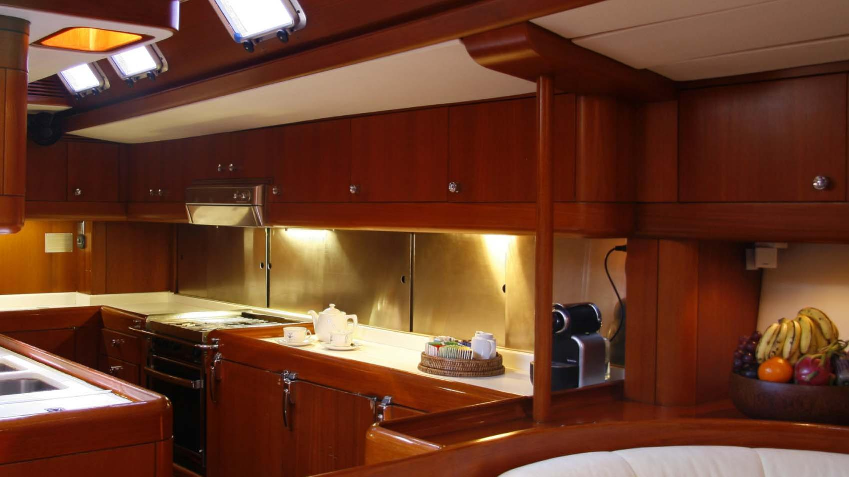 ASPIRATION sailing yacht galley