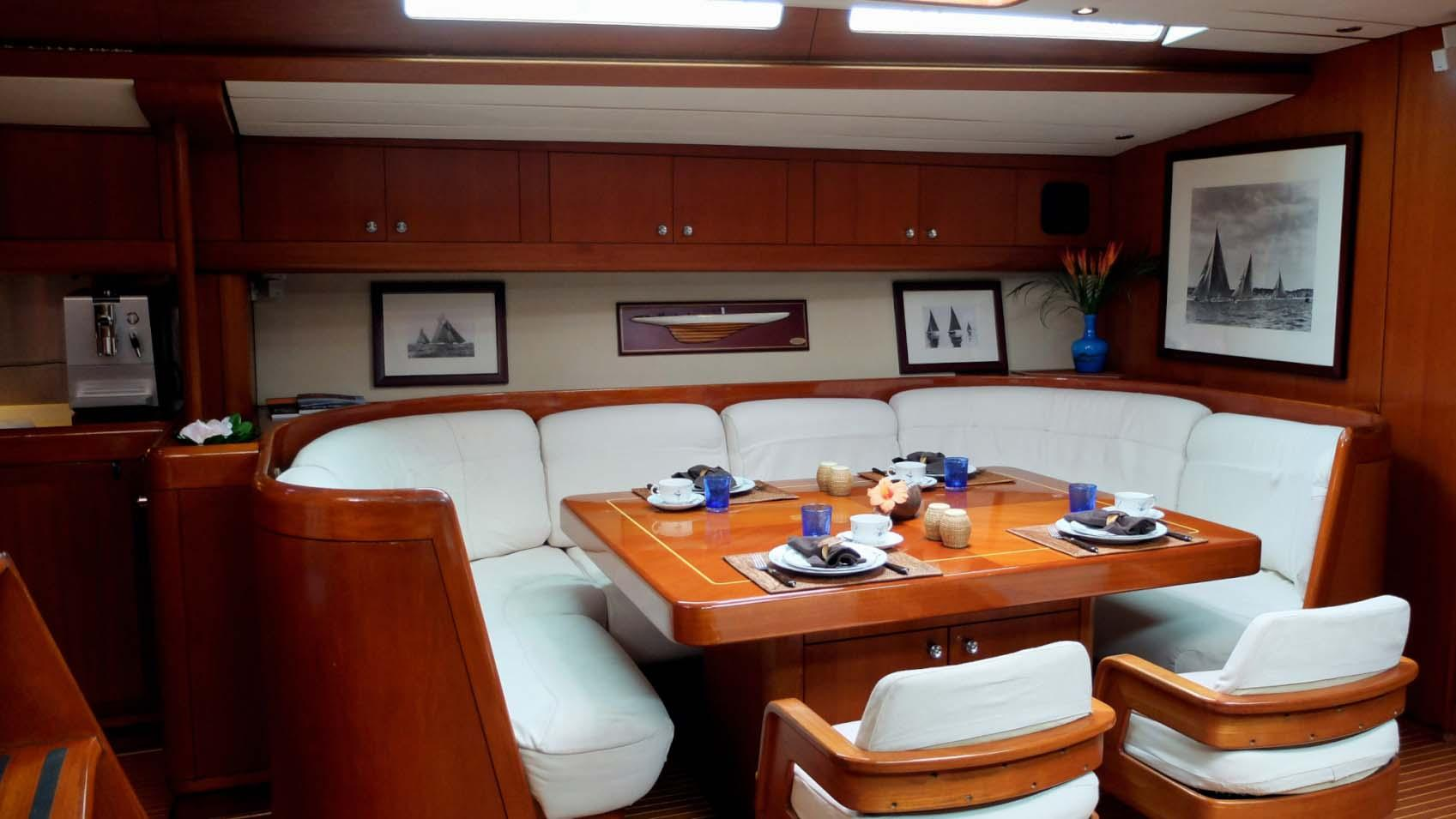 ASPIRATION sailing yacht dining