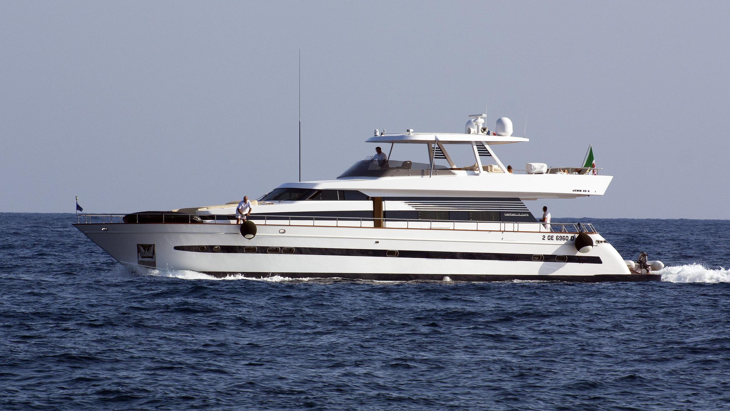 fawn-motor-yacht-cantieri-di-pisa-Akhir-25S-1990-26m-cruising