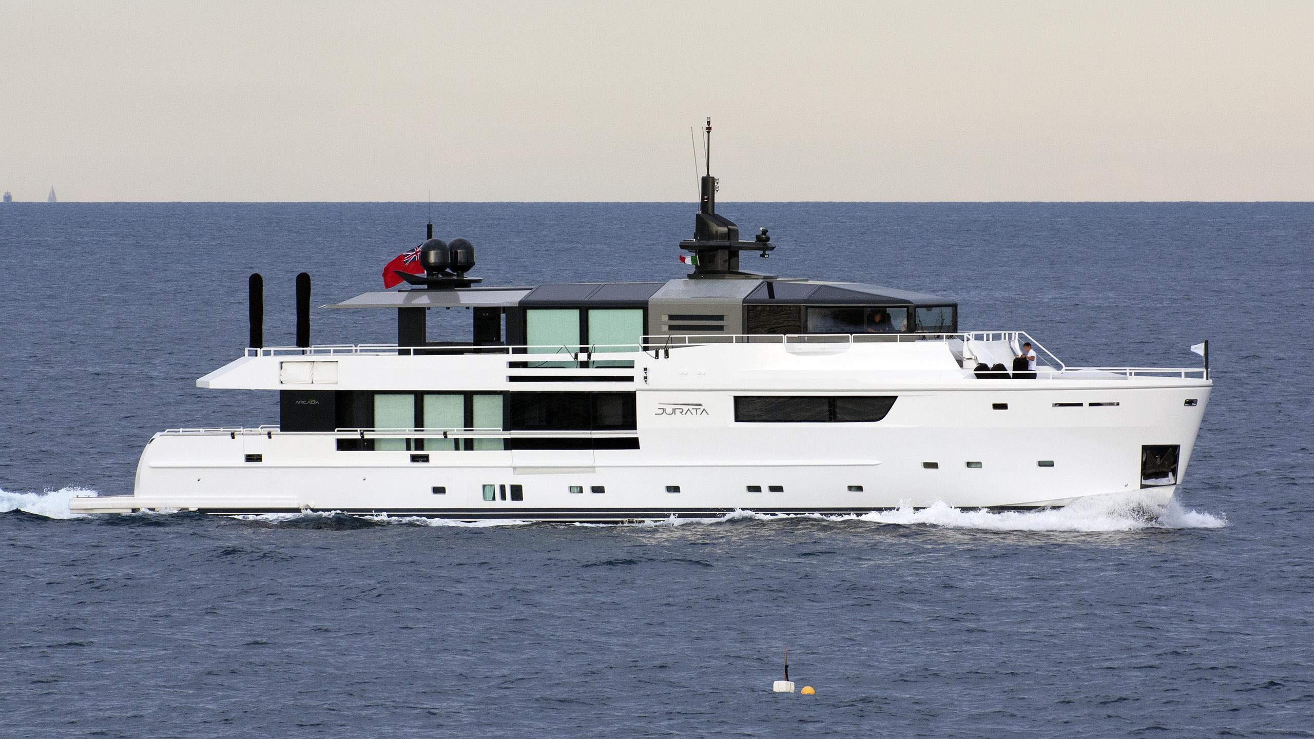 jurata motor yacht arcadia 115 2014 35m cruising profile