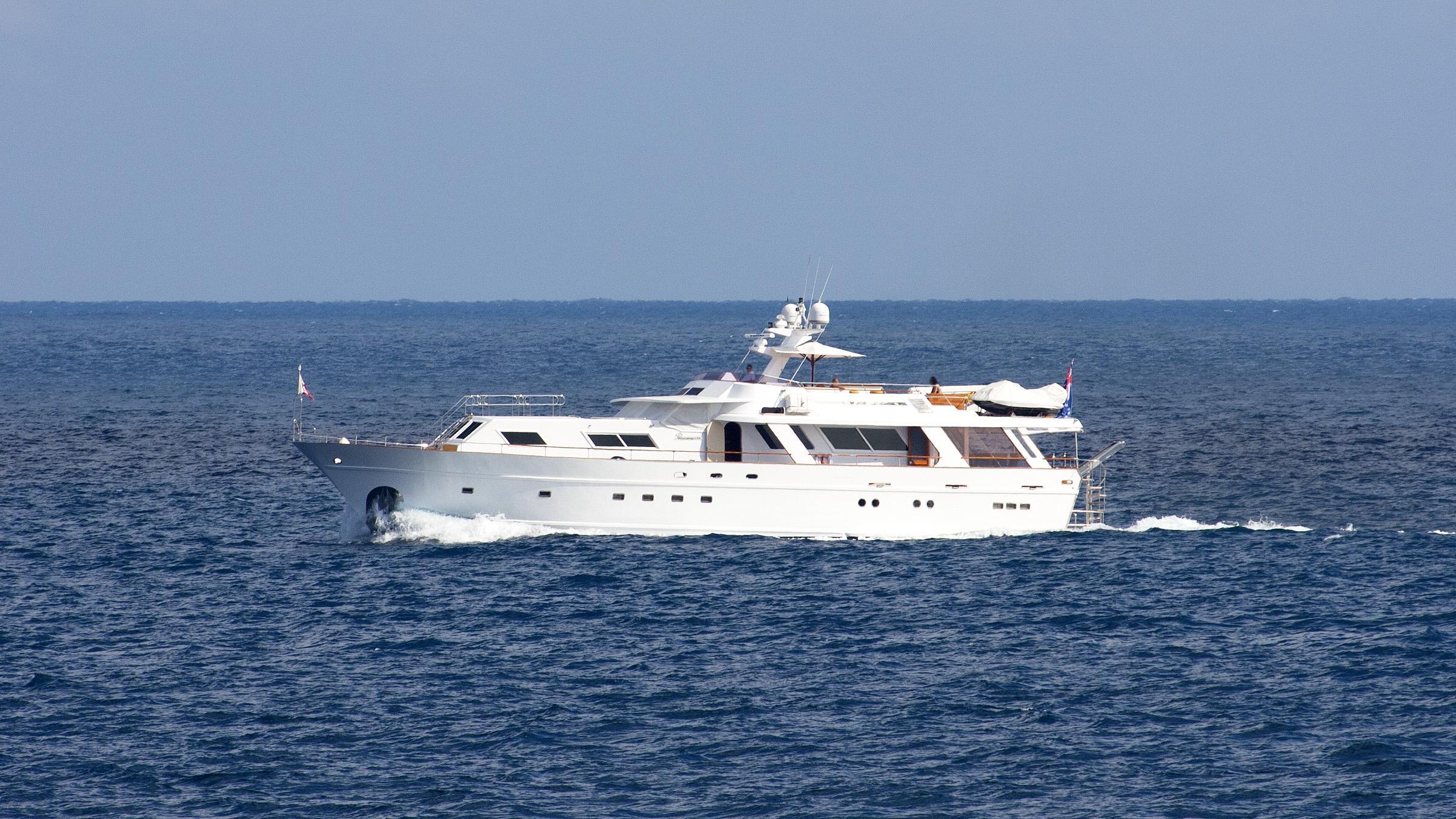 passionat-motoryacht-udondo-1973-27m-profile-running