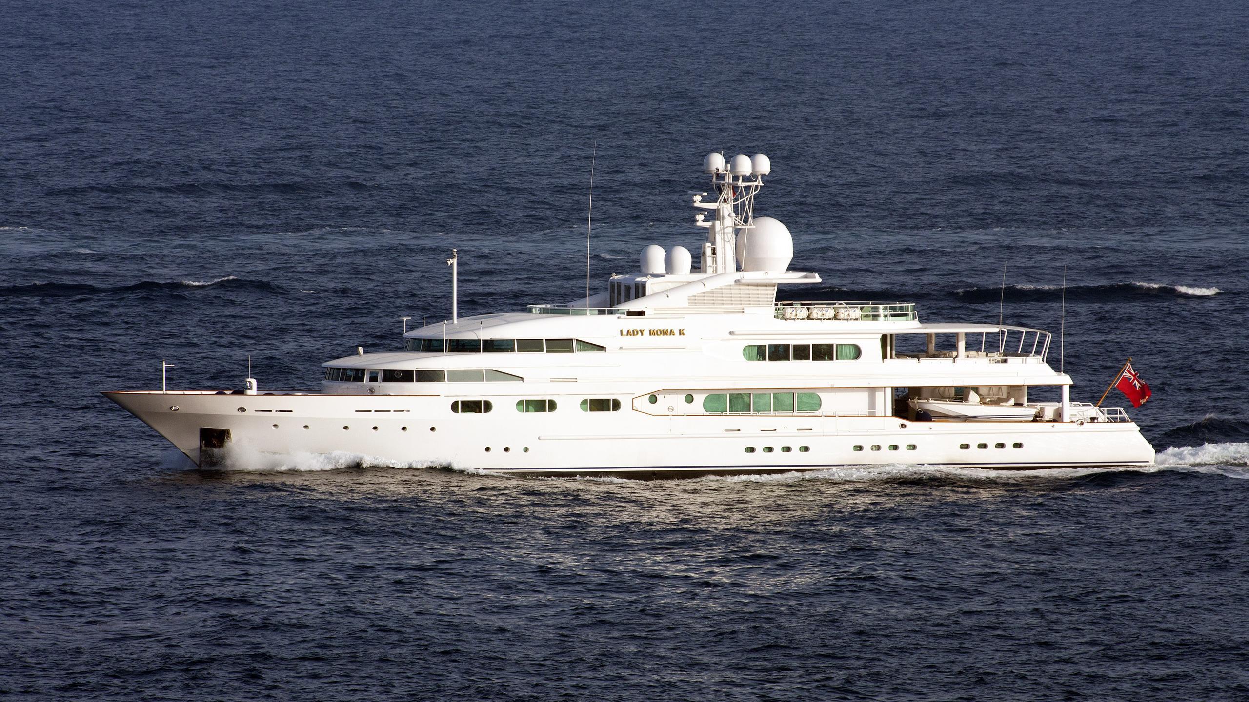 dancing hare lady mona k motor yacht amels 1986 58m cruising half profile