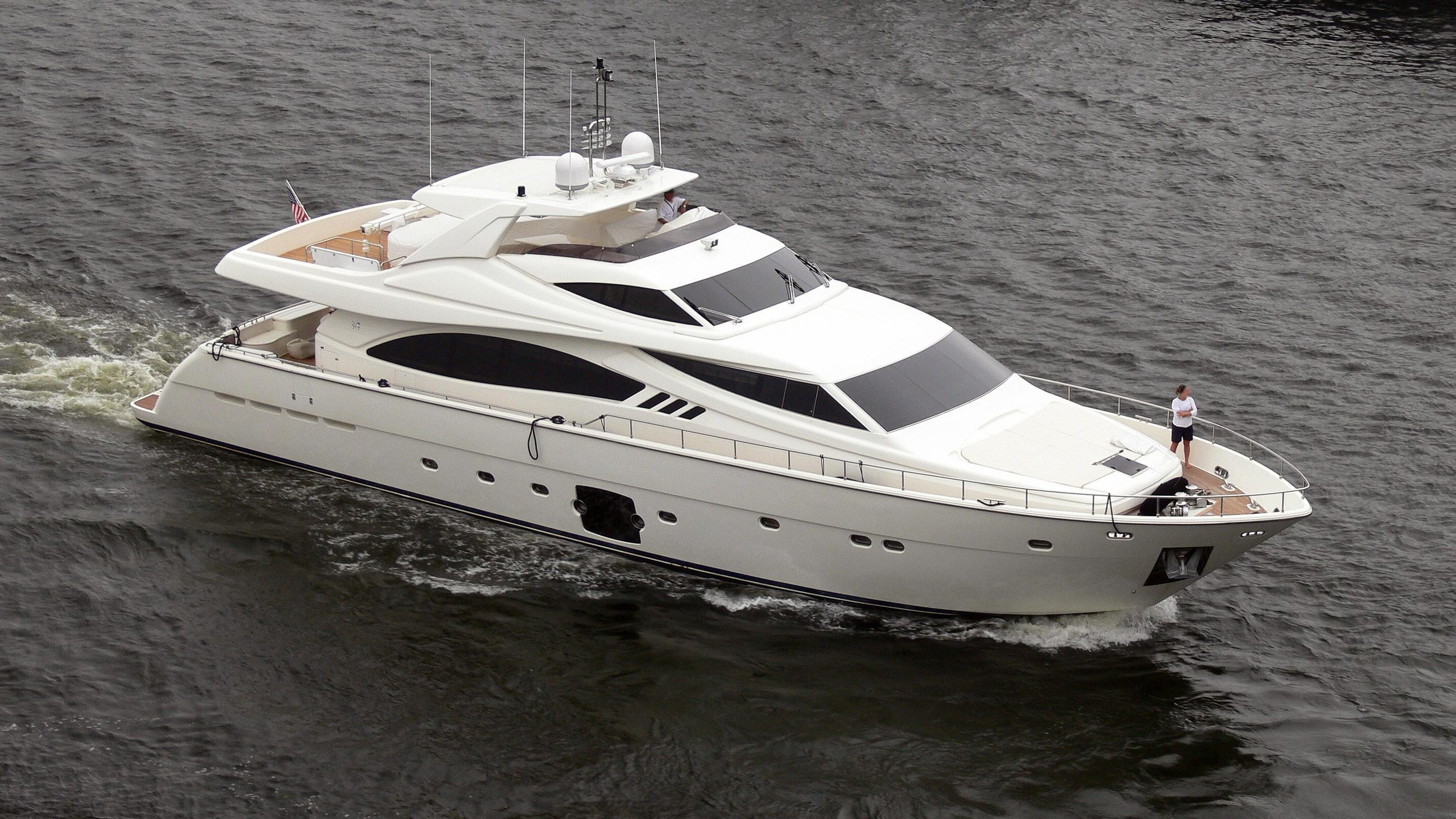 aurora dignitatis motoryacht ferretti 881 rph 2008 27m half profile