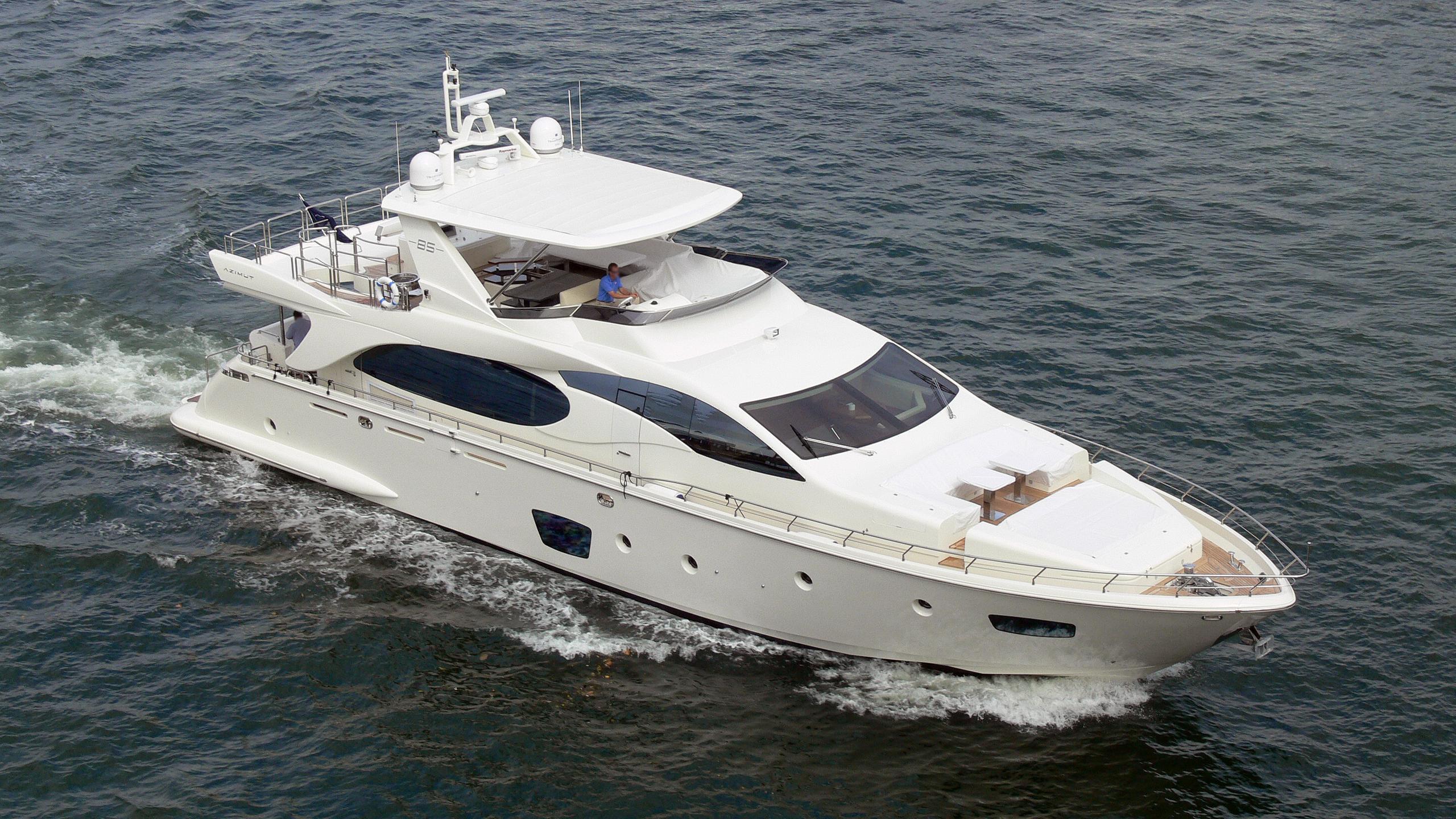 tropicana motoryacht azimut 85 2008 27m aerial sistership