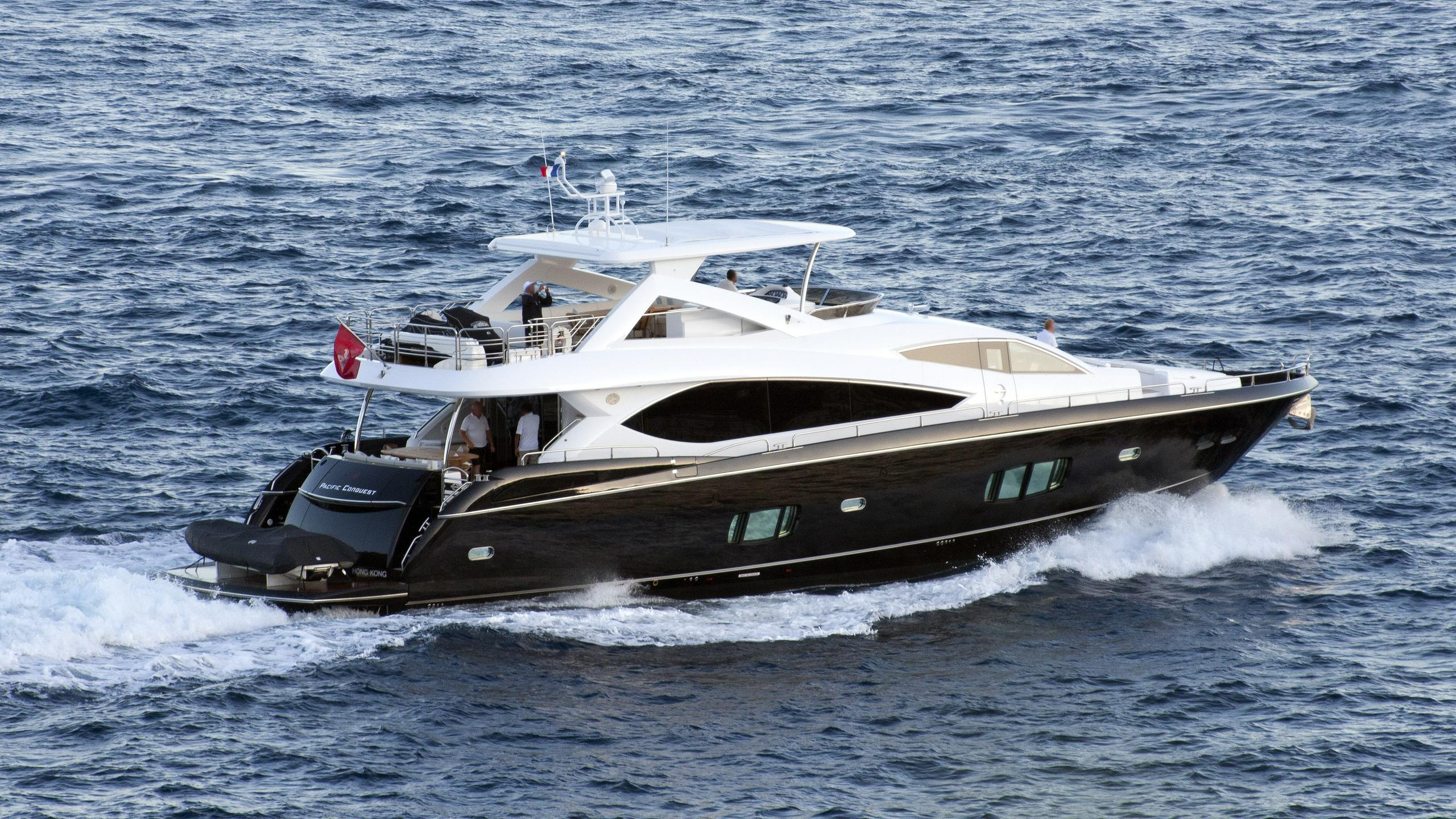 pacific-conquest-motor-yacht-sunseeker-88-2009-27m-cruising